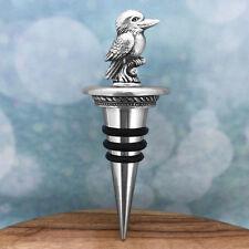 Kookaburra (B) Australian Souvenir Pewter Wine Bottle Stopper Australiana Gift