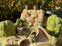 Miniature sculpture - 'Grantchester Meadows' handmade by Lilliput lane UK 1992