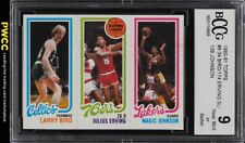 1980 Topps Basketball Larry Bird & Magic Johnson ROOKIE RC BCCG 9 (PWCC)