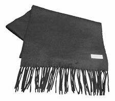 Extra Long Cashmere/Angora Scarf in Black - 80% Cashmere