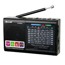 Portable FM/MW/SW Radio Emergency World Receiver Bluetooth MP3 Player+USB Cable
