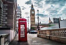 5x3ft Background Photo Backdrop Studio Prop London Big Ben Telephone Box Scene