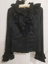 Negro Blusa, top para mujer, tamaño S/38