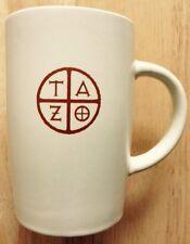 2012 STARBUCKS TAZO TEA COFFEE MUG, ZEN DESIGN, CUSTARD COLOR, NEW