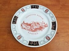 ULTRA ULTRA RARE LAMBERTON SCAMMELL IVORY PLATE WITH GREEK SCENES & LETTERS EUC