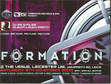 (RAVE FLYER 2003) FORMATION RECORDS @ LEICESTER UNI. DJ SS. SHY FX. ANDY C.