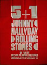 5 + 1 French Grande movie poster 47x63 ROLLING STONES JOHNNY HALLYDAY 1970 NM