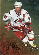 98-99 BE A PLAYER BAP SIGNATURE AUTOGRAPH AUTO GOLD ROBERT KRON HURRICANES 35302