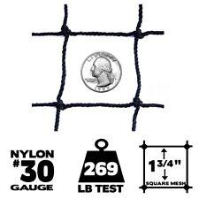 Netting - 50' x 50', #30 Gauge, Baseball / Softball Panel Net (Choose Border)