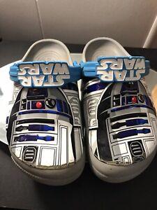 Crocs Kids Shoes Clogs US C13 Gray/blue  Star Wars Slingbacks Slip-On