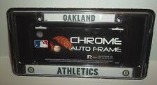 Oakland Athletics Chrome Metal License Plate Frame Auto A's Logo Cover MLB New