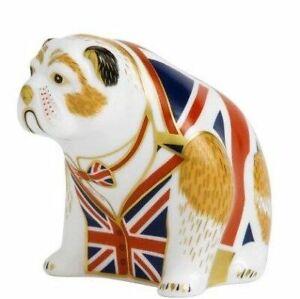 Royal Crown Derby bulldog - union jack Paperweight