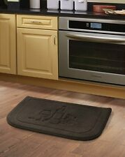 Brown Wine Memory Foam Anti Fatigue Kitchen Floor Mat Rug Victoria Classics