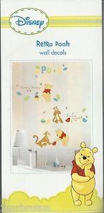 Disney Retro Pooh Wall Decals Stickers Winnie the Pooh Tigger Neutral Nursery