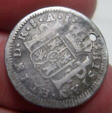 1800 AJ (CHILE) 1/2 REAL (SILVER) SANTIAGO MINT --- very scarce -------