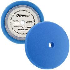 """8"""" Blue Medium Foam Grip Pad Light Cut Polish Buff - Hook & Loop Car Polishing"""