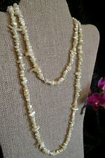 "Vintage seed bead Pearl Necklace single strand 36"" long #jewelry fashion wedding"
