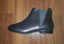 LADIES STUNNING NEW COMFY FLAT BRONZE GREY BLACK CHELSEA ANKLE BOOTS SIZE 5 (38)