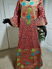 Ankara-dress Full lenght embriodered and embellished with stones. Burst 44""