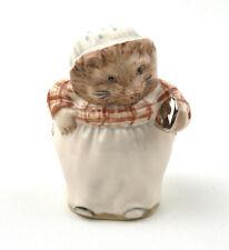 Beswick Ware Beatrix Potter Figurine - Mrs. Tiggy-Winkle BP-9b * Platinum Iron *