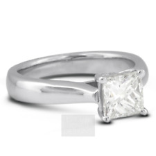 3/4ct G VVS2 Princess Natural Certified Diamond 14k  Solitaire Engagement Ring