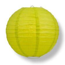 "20"" Chartreuse Round Paper Lantern, Even Ribbing, Hanging Decoration"