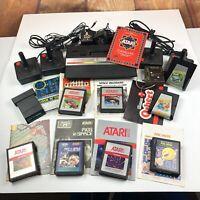 Atari 2600 Jr. System Console Lot Games Manuals 4 Controller Joysticks UNTESTED