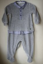 GUCCI BABY GREY VELOUR LAYERED LOOK BABYGROW 9-12 MONTHS