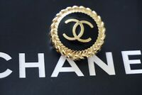 1 ONE Stamped  CHANEL Button 1 pieces   black 20 mm 0,8 inch💋 cc