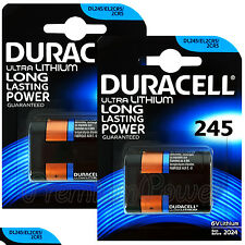2 x Duracell Ultra Lithium DL245 2CR5 6V batteries DL245 ELCR5 Photo EXP:2024