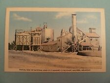 Malvern Arkansas Postcard National Lead Co Magnet Cove Plant LINEN Vintage AR