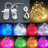 10/20/30 LED Battery Micro Rice Wire Copper Fairy String Lights Lamp Party Decor