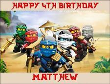 LEGO NINJAGO (2) 26x19.5cm Rectangle Edible ICING Sheet Birthday Cake Topper
