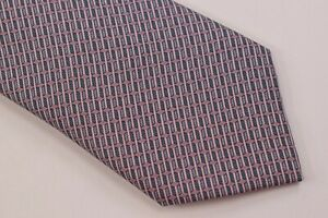 NWT Brioni Neck Tie Pink White Hand Made in Italy 100% Silk Luxury New $250