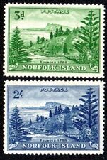 1959 NORFOLK ISLAND BALL BAY white papers SG6a 12a mint unhinged