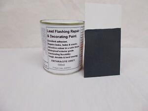 1 x 500ml Anthracite / Dark Grey. Lead Flashing / Roof Repair & Decorative Paint