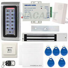Metal RFID Reader Access Control Security System Keypad ID Card & Magnetic Lock