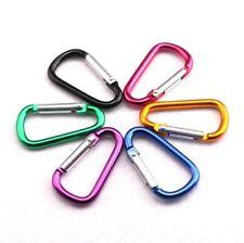 1, 2, 5 or 10 x CARABINER Small Spring Clip Snap Clasp Hook Keyring Karabiner D