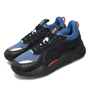 Puma RS-X Softcase Black Blue Run System Mens Running Lifestyle Shoes 369819-05