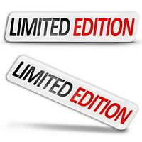 2 Resinati 3D Adesivi Limited Edition Stickers Edizione Limitata Logo Auto Moto