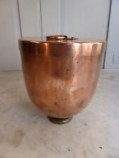 Antique copper lidded ice cream mould