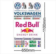VW Logo Autoaufkleber Sponsoren Marken Aufkleber Decals Tuning Sticker Set XXL