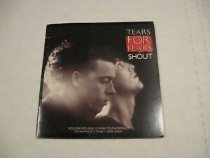 Tears For Fears/ Shout/ Vertigo/ 1985/ Canada/ Picture sleeve w/booklet