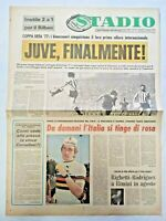 QUOTIDIANO STADIO 19-5-1977 JUVENTUS BATTE ATLETICO BILBAO E VINCE 1° COPPA UEFA