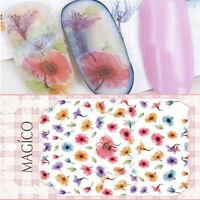 Nagel Kunst Sticker Aufkleber Stamping Nail Tattoos Romantik Blumen 10.3*8cm