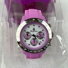 Burgmeister Women's Wrist Watch Quartz Analogue Pink Silicone Strap Chronograph