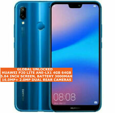 "HUAWEI P20 LITE ANE-LX1 GLOBAL VERSION 4gb 64gb 16mp 5.84"" Android Smartphone 4g"
