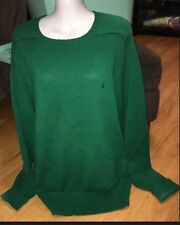 Men's Green Ralph Lauren Polo Crew Neck Sweater Blue Pony L/S Large L
