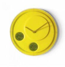 LEXON  LR137 - Flow Horloge Murale + Degrés Int / Extérieur + Humidité - Jaune