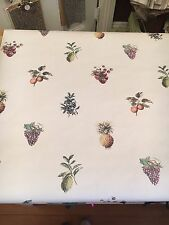Vintage Wallpaper Country Kitchen Fruits Grapes Berries Peaches